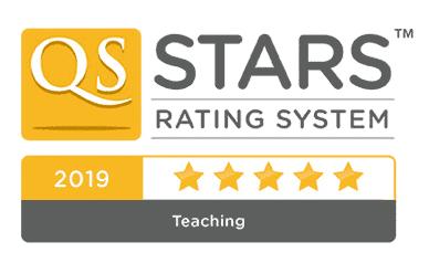 5 Estrellas en el Ranking QS-Stars: categoría de Docencia en 2019