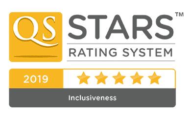 5 Estrellas en el Ranking QS-Stars: categoría de Inclusividad en 2019