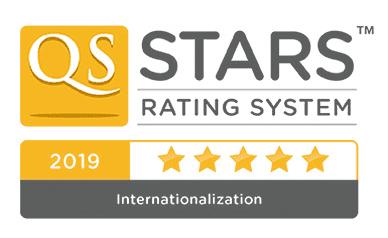 5 Estrellas en el Ranking QS-Stars: categoría de Internacionalización en 2019