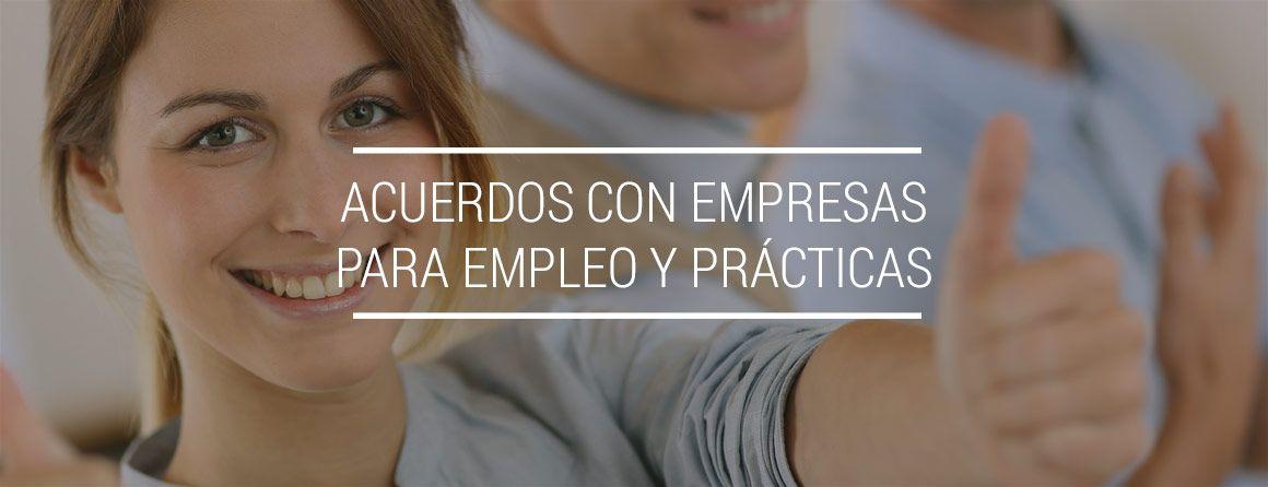SAcuerdos con empresas pra Bolsa de Empleo y Prácticas