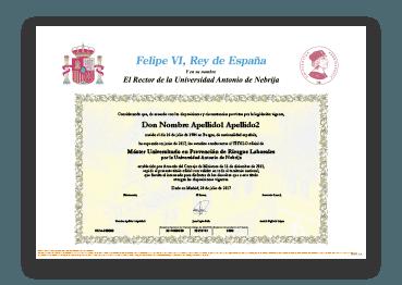 Título Oficial por Universidad Nebrija