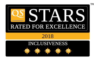 QS Stars de 5 estrellas en inclusividad