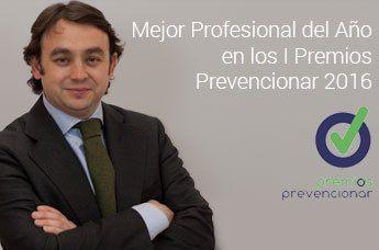 Carlos Martínez nombrado Mejor Profesional del Año en los I Premios Prevencionar