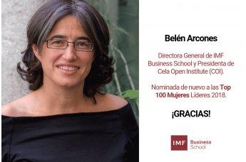 Belén Arcones nominada a las Top 100 Mujeres Líderes