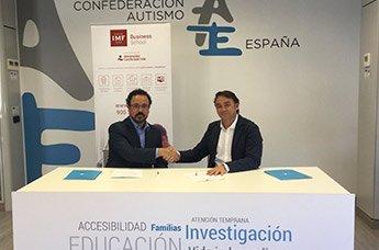 IMF Business School y Autismo España firman convenio de colaboración