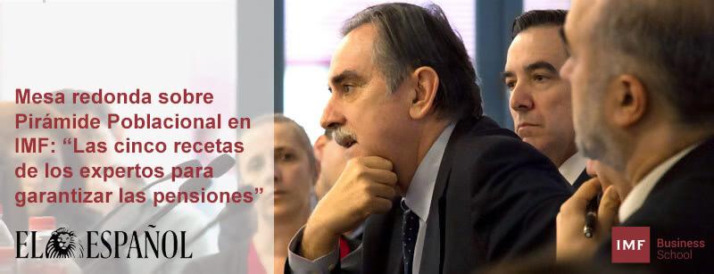 Periódico El Español: Pirámide de población en IMF
