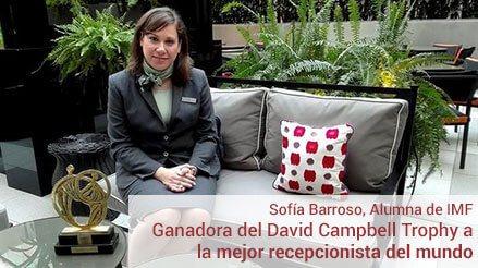 Sofía Barroso, alumna de IMF, la mejor recepcionista del mundo